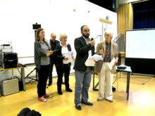Members of the joint Peckham Vision & Rye Lane Traders' deputation introduce themselves